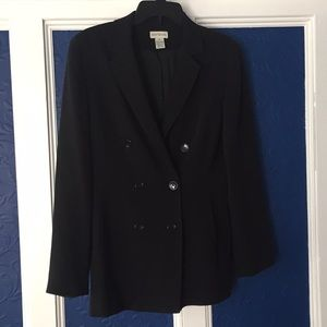Ann Taylor. 8. Black double breasted blazer.